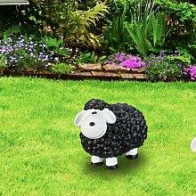 Gartenfigur Schaf Cutlip Happy Larry Farbe: Schwarz