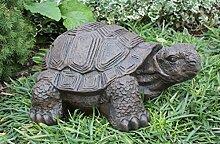 Gartenfigur Schildkröte groß - Dunkelbraun, Deko, Figur, Garten, Stein, frostsicher