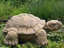 Gartenfigur Schildkröte groß - Hellbraun, Deko, Figur, Garten, Stein, frostsicher