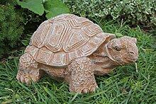 Gartenfigur Schildkröte groß - Terrakotta, Deko, Figur, Garten, Stein, frostsicher