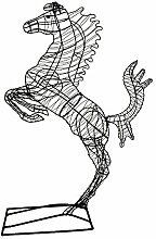 Gartenfigur steigendes Pferd Draht Figur 150 cm hoch