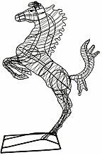 Gartenfigur steigendes Pferd Draht Figur ca. 100 cm hoch