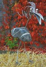 Gartenfigur und Gartendeko Steinvogel Doris