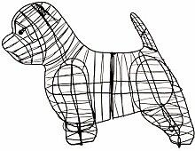 Gartenfigur Westi Tierfigur für Moos Efeu
