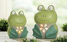 Gartenfigur Windlicht Frosch 'Sam', 41 cm, mehrfarbig