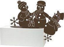 Gartenfigur Winterfreunde Schneemänner Goebel