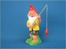 Gartenfigur Zwerg Angler stehend H 34 cm