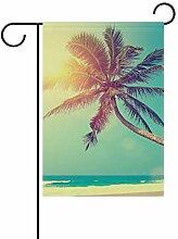Gartenflagge Hawaii Tropische Seestrand Palme 30,5