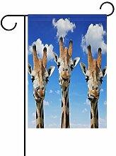 Gartenflagge mit Giraffen, doppelseitig, für Haus