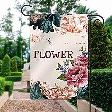 Gartenflagge ohne Marke, Dekoration, Sommer-Blume,