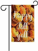 Gartenflaggen,Happy Fall Y 'Alle Kürbis