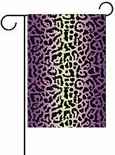 Gartenflaggen mit Leopardenmuster - festliches