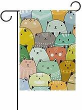 Gartenflaggen mit süßen Katzen - festliches