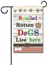 Gartenflaggen,Verwöhnte Faule Hunde Leben Hier