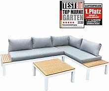 Gartenfreude Ambience Lounge Gruppe, Weiß-Grau