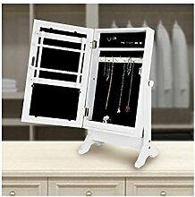 Gartengarnitur–Standspiegel mit Schmuckschrank, Weiß