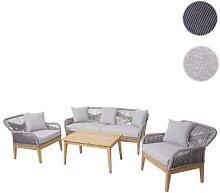 Gartengarnitur HWC-H56, Lounge-Set Sitzgruppe