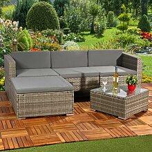Gartengarnitur Sitzgruppe Lounge Garten Ecksofa