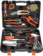 Gartengeräte Pathonor 12 Stück Werkzeug Set von Gartengeräte set Garten Gartenpflege set für Gartenarbeit und Balkonpflanzen