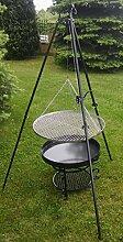 Gartengrill 180 cm -Stativ -Gitter mit einem Durchmesser von 70 cm -Komplett Set -Premium Qualita