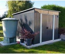Gartenhaus aus Metall 6,67m² Skylight anthrazit +