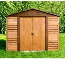 Gartenhaus aus Metall in Holzoptik 4,6m² +