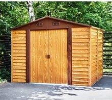 Gartenhaus aus Metall in Holzoptik 6,62m² +