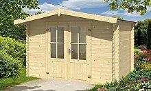 Gartenhaus Baltimore 6m² Blockbohlen, 28mm