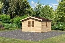 Gartenhaus Blockbohlenhaus Lenne 5 Farbe: