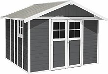Gartenhaus Deco H 11 dunkelgrau weiß