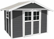 Gartenhaus Deco H 7,5 dunkelgrau weiß
