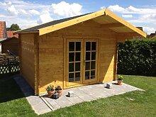 Gartenhaus DUISBURG Blockhaus 380cmx300cm - 28mm Holzhaus TOP-Qualitä
