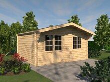 Gartenhaus EIFEL Blockhaus 505cm x 415cm - 44 mm