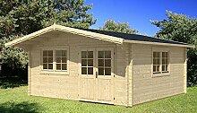 Gartenhaus ENZO D 70 ISO Blockhaus Holzhaus 500 x 500 cm - 70 mm Ferienhaus
