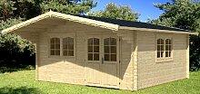 Gartenhaus ENZO - D40 Blockhaus 500x500cm - 40mm -