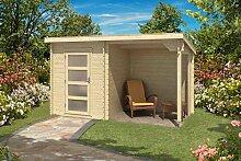 Gartenhaus G176 inkl. Schleppdach - 28 mm Blockbohlenhaus, Grundfläche: 6,35 m², Pultdach