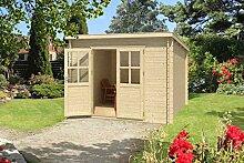 Gartenhaus G200 - 28 mm Blockbohlenhaus, Grundfläche: 4,70 m², Pultdach