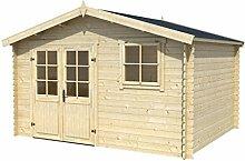 Gartenhaus G95 - 28 mm Blockbohlenhaus,