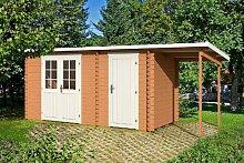 Gartenhaus GLORIA G 28 + 150 cm Schleppdach