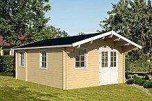 Gartenhaus GOTLAND D 70 Blockhaus 440x595cm +