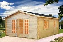 Gartenhaus INGRID Blockhaus 470cm x 570cm - 45mm Gartenlaube Holzhaus Holzlaube