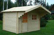 Gartenhaus LÜBECK Blockhaus 300cm x250cm - 28mm Holzhaus TOP-Qualitä