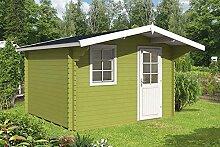 Gartenhaus LUGO 40 Blockhaus Holzhaus 350 x 320 cm - 40 mm Ferienhaus
