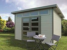 Gartenhaus Malus S8244 - 28 mm Blockbohlenhaus, Grundfläche: 6,89 m², Pultdach