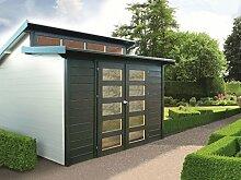 Gartenhaus Malus S8246 - 28 mm Blockbohlenhaus, Grundfläche: 8,58 m², Pultdach