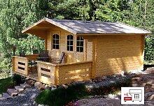 Gartenhaus MARI B - B40 Blockhaus 380x380cm - 40mm