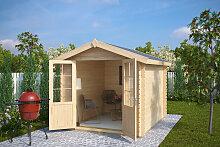 Gartenhaus mit Doppeltür Anita L 6,2m² / 28mm / 2×3