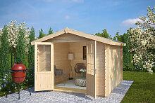 Gartenhaus mit Doppeltür Anita XL 7,5m² / 28mm / 3x3m