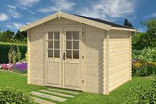 Gartenhaus mit Doppeltür Laura B 6,2m² / 28mm / 2×3