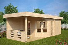 Gartenhaus mit Geräteraum Paula 12,5m² / 40mm / 3×7